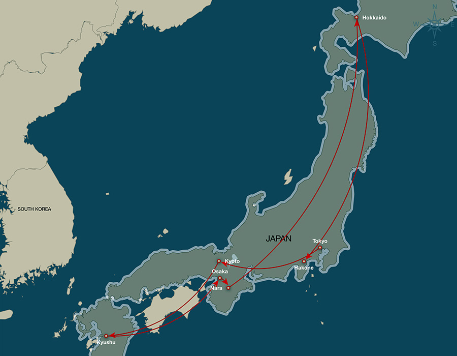 2014 Japan Travel Map